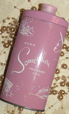 "AVON ""Somewhere"" Perfumed Talc."