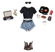 """Art hoe"" by whimsyc4l ❤ liked on Polyvore featuring Dr. Martens, CB2, Retrò, OKA and Crosley Radio & Furniture"