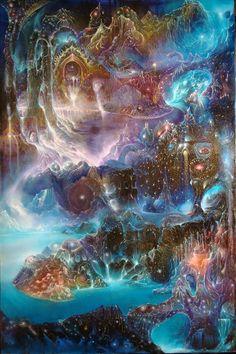 Visionary art of Josip Csoor - Andrei Verner Psychedelic Art, Fantasy Landscape, Fantasy Art, Psy Art, Mystique, Visionary Art, Surreal Art, Fractal Art, Third Eye