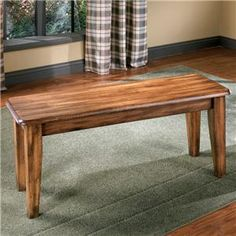 Keep Dining Modern And Earthy With A Rich Hickory Bench Large RoomsDining