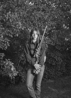 Morgan from Pray, Montana, holding her .17 H.M.R. Savage Model 93R17 bolt-action rifle