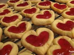 thumbprint heart cookies!