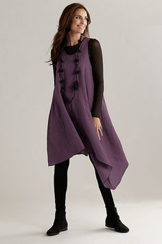 """Asymmetric Long Linen Tunic""  Linen Tunic created by Cynthia Ashby on Artful Home"