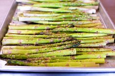 Oven roasted asparagus.  Update: Best recipe I've used... but added 3 cloves of garlic, for 15 mins.