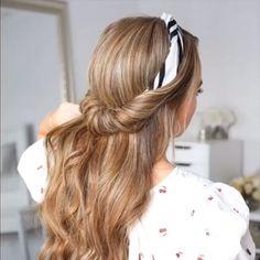 Hair tutorial video for long hair! - Hair tutorial video for long hair! Easy Hairstyles For Medium Hair, Box Braids Hairstyles, Elegant Hairstyles, Cool Hairstyles, Casual Hairstyles, Wedding Hairstyles, Simple Hairstyles For School, Waitress Hairstyles, Hairstyle Braid