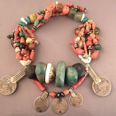 South Morocco | Antique Berber necklace from the Draa valley | Sold