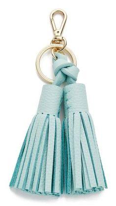 Kate Spade New York Double Leather Tassel Keychain