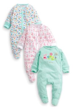 Buy Three Pack Gardening Sleepsuits (0mths-2yrs) online today at Next: United States of America