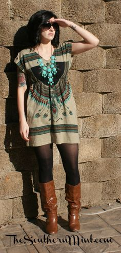 Tribal Print Dress - Click for the outfit breakdown!