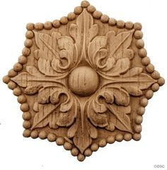 Empire Rosettes offered in 3 Sizes for various interior and woodwork design projects. Manufactured by Decorators Supply Corp Chicago, Il.