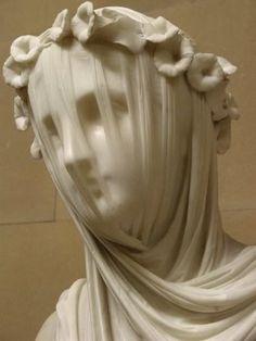 Veiled Vestal Virgin by  by Raffaelle Monti. Top that!