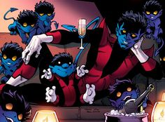From Nightcrawler #1, Todd Nauck's recreation of  a classic Paul Smith scene from Uncanny X-Men #168.