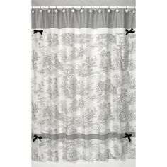 @Overstock.com - Black French Toile Shower Curtain - Add a touch of style and a splash of color to your bathroom with this designer shower curtain. Pair with coordinating Sweet JoJo Designs room accessories to complete the look and feel of your favorite theme.  http://www.overstock.com/Bedding-Bath/Black-French-Toile-Shower-Curtain/7604193/product.html?CID=214117 $39.99