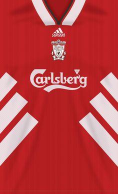 Liverpool kit home Lfc Wallpaper, Liverpool Fc Wallpaper, Liverpool Wallpapers, Soccer Kits, Football Kits, Football Soccer, This Is Anfield, Liverpool History, Captain Tsubasa