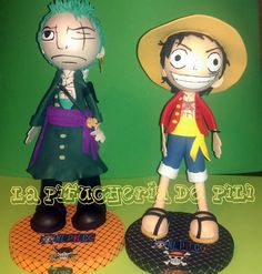 Aquí os dejo a los dos personajes de la serie Luffy y ZORO  juntos
