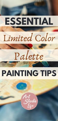These are such limited color palette painting tips🎨Really great painting techniques to be able to simplify with colors to get right to the point when painting with limited colors!