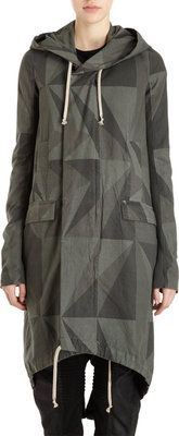 DRKSHDW BY RICK OWENS GEOMETRIC CAMO COAT IT M/ US 6