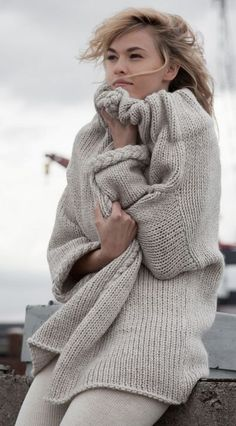 ...oatmeal fisherman sweater...