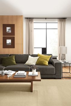 Tyne steel base end tables are modern living room tables that are multifunctional furniture end tables Modern Living Room Table, Deep Sectional, Ottoman In Living Room, Furniture, Custom Chair, Extra Deep Sofa, Modern Furniture Living Room, Custom Sofa, Custom Sectional