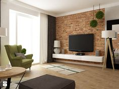 Bedroom Tv Interior Design - Bedroom Tv Interior Design , 13 Worst Trading Spaces Designs From the sob Inducing Fireplace Home Room Design, Dining Room Design, Interior Design Living Room, House Design, Studio Living, Living Room Tv, Home And Living, Brick Interior, House Rooms