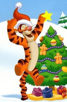 Tigger having fun at christmastime :)