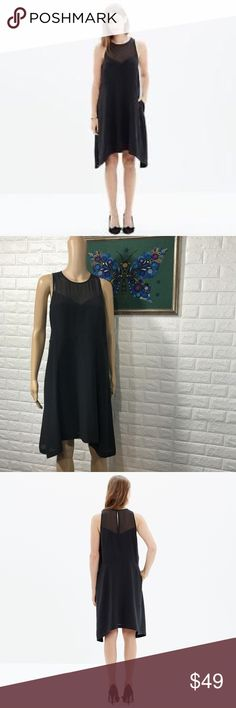 9619568681c1 NWT Madewell Black Silk Parkview dress M Brand new never worn SIze M  Madewell Black Silk