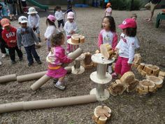 loose parts play in the playground