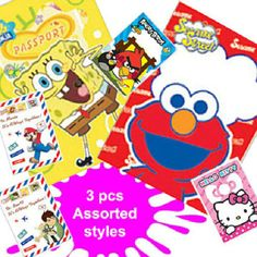 Popular Characters / Designs Passport Cover Holders Lot of 3 | Balli Gifts
