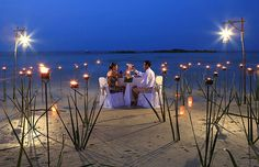Enjoy a dinner for two on the beach at Zoëtry Agua Punta Cana!