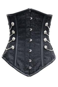 Courte Rouge Foncé Gothique Gilet avec lacets Punk Rave Steampunk Waistcoat
