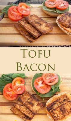 Tofu Bacon (vegan, gluten free) - Add this vegan bacon to your favorite sandwich (like a vegan BLT), or a salad. It is smoky and sweet.