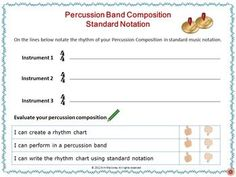 Create and Perform with Percussion Instruments   Here is a series of fun activities for your music class while reinforcing the concepts of:  ♦ beat,  ♦ rhythm, ♦ performance and  ♦ music notation.    ♫ CLICK through to preview or repin for later