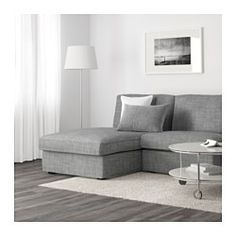 KIVIK One-seat section with chaise longue, Isunda grey - Isunda grey - IKEA