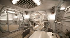 Sci fi bunker interior Futuristic Architecture, Space Architecture, Futuristic Interior, Spaceship Interior, Spaceship Concept, Sci Fi City, Lost In Space, Sci Fi Environment, Futuristic Technology
