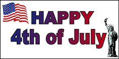 Happy Forth Of July 4Th Independence Day 13 Oz Vinyl Banner Sign w/ Grommets 2 ft x 4 ft
