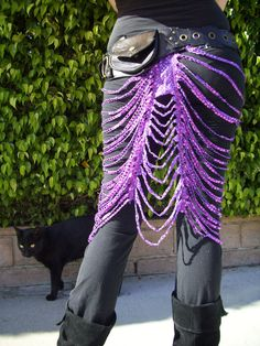 Art Deco Sparkle Skirt in Magenta by chovihani on Etsy $45