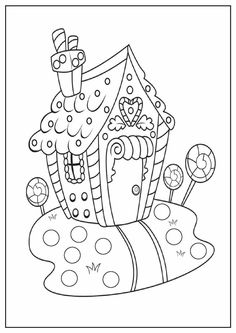 Gingerbread House Coloring First
