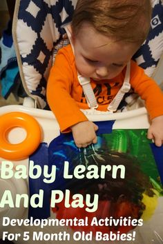 Fun with paint for a 5 month old baby: Come join me as I explore some simple and fun activities that you can try with your young infant.