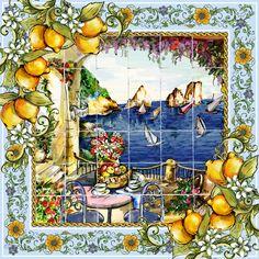 Like souvenir of our #lightbluejourney: majolica tiles portaying the beauty of Capri.