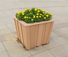 Outdoor WPC flower box
