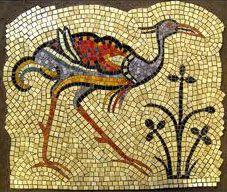 art deco mosaic representing a bird