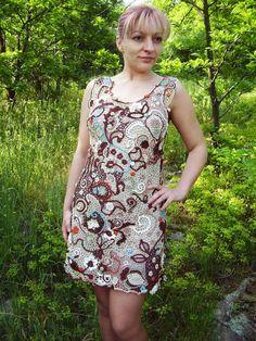 Crochet Dress Irish Crochet dress Summer by KSZCrochetTreasures