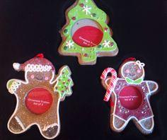 Set Of 3 Christmas Photo Picture Ornament Gingerbread Christmas Tree St Nicholas #StNicholasSquare