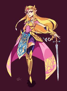 Zelda For  Hyrule Warriors!! I still plan to play as Link XD (OMYGOSH AND MIDNA)