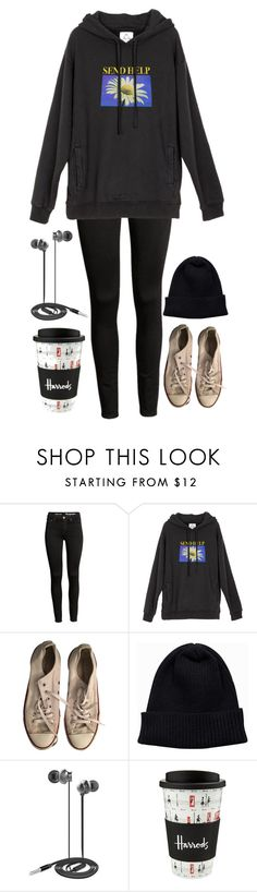 """""""Lazy day"""" by tina20473 ❤ liked on Polyvore featuring UNIF, Converse, NLY Accessories, Nicole Miller and Harrods"""