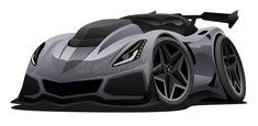 Download Modern American Sports Car Vector Illustration Stock Illustration - Illustration of hood, looking: 120414885