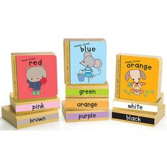 Green Start Colour Book Tower - Ten chunky books feature fun rhymes about little animals and the colours they love!