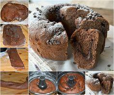 Ciambella di pan brioche al cacao con nutella e mascarpone