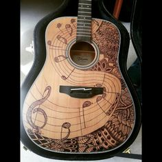 Zentangle guitar