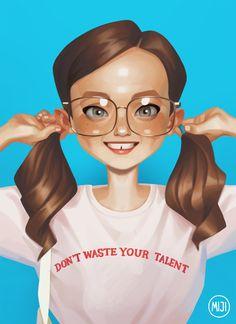 The amazing digital art of miji lee Illustration Girl, Character Illustration, Digital Illustration, Digital Portrait, Portrait Art, Digital Art, Painting Portraits, Game Character Design, Character Art